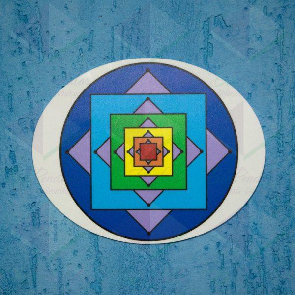 Mandala Quadrados Sobrepostos